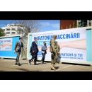 """Vizita premierului Florin Cîțu la centrul de vaccinare de la Spitalul Militar de Urgență """"Dr. Alexandru Gafencu"""" Constanța"""